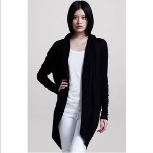 Joie Wool / Cashmere Black Rathana Hooded Cardigan